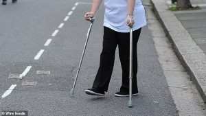 UK Crutches after knee surgery