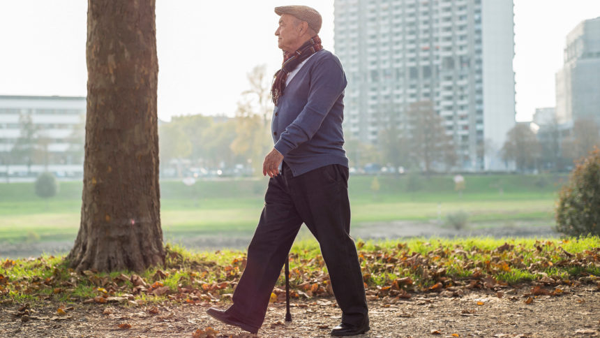 old man walk Piriformis syndrome
